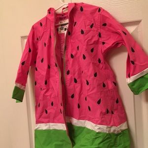 Watermelon rain jacket